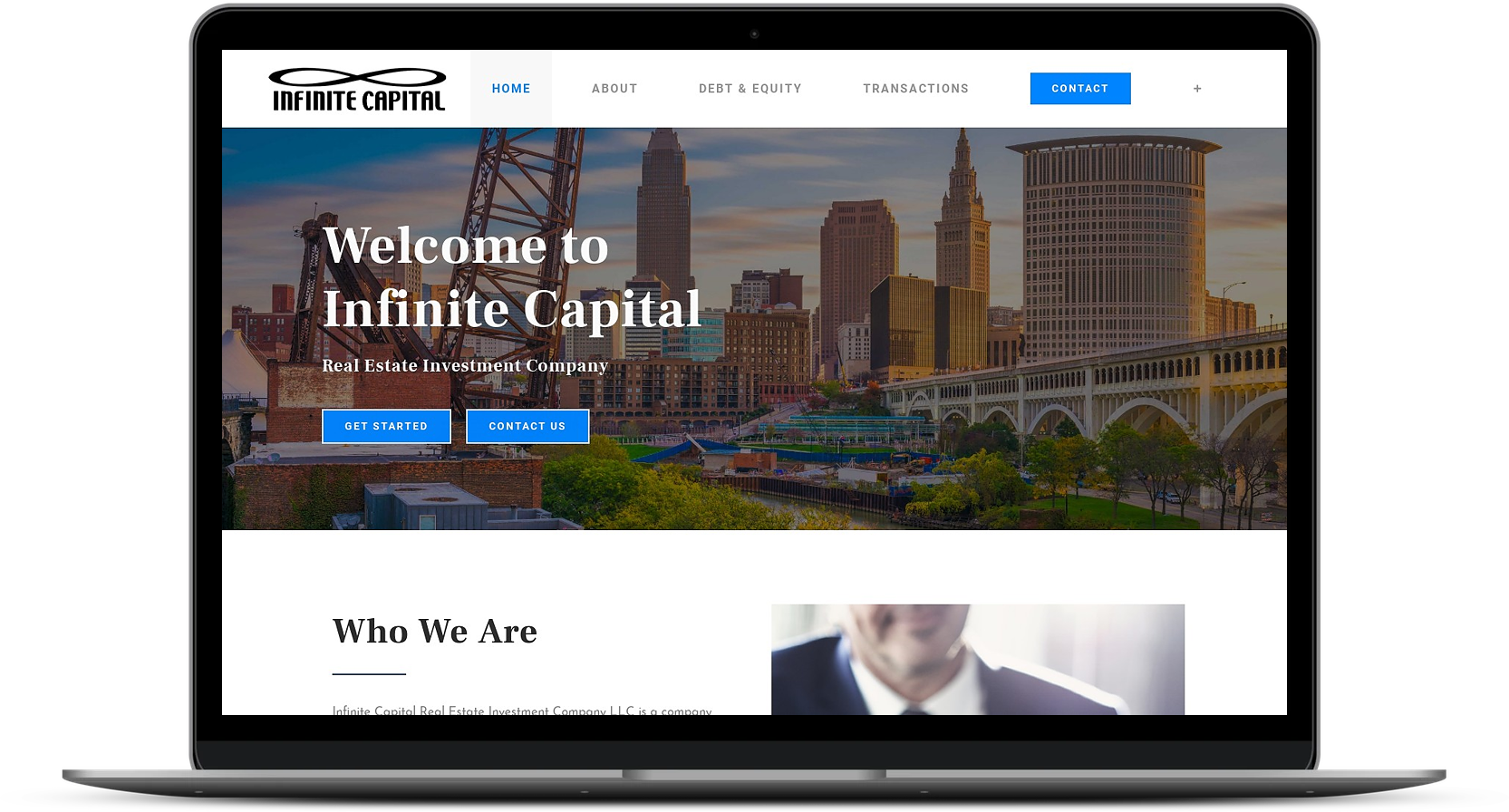 Infinite Capital Website After